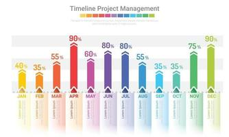 den ganzen Monat Planer Design und Präsentation Business-Projekt. vektor