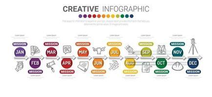 Timeline Infografiken Design vektor