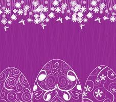 Ostern-Hintergrund mit Eiern verzieren vektor