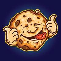 Kekskeks köstliche Cartoon-Maskottchen-Lebensmittelillustration vektor