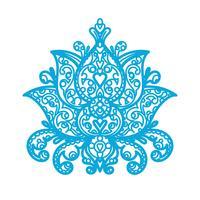 Lotus Ornament - trä laserskärning