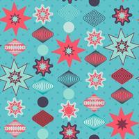 Retro Weihnachtsdekorationen, nahtloses Muster