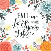 Falla i kärleken med ditt liv. vektor