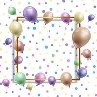 Födelsedag bakgrund med ballonger