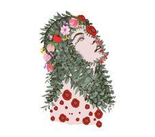 Frühling Zeit Fantasy. florale Seele vektor