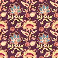 Indian National Paisley Ornament für Baumwolle, Leinenstoffe.