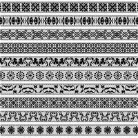 svart spets gräns mönster