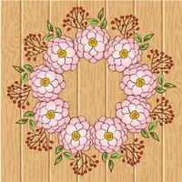 Kransram, kant av blommig prydnad vektor