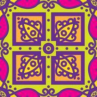 Mexikanisches nahtloses Muster Talavera-oblana