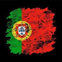 Portugal-Flagge Grunge Pinsel Hintergrund. vektor