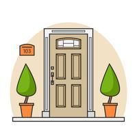 Tür-Vektor-Illustration vektor
