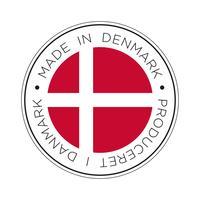 Hergestellt in Dänemark Fahne II.