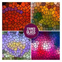 mångfärgad trasig rutig glasbakgrundsuppsättning vektor