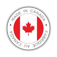 gjord i kanadens flaggikon. vektor