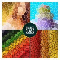 mångfärgad trasig rutig glasbakgrundsuppsättning