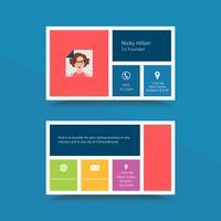 Professionelle Visitenkarte-Designvorlage