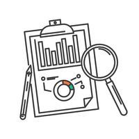 Konzept des Entwurfs der großen Datenanalyseikone des Geschäfts.