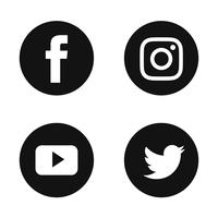 Social Media-Icon-Set vektor