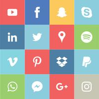 Social Media-Icon-Set vektor