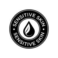 Symbol für empfindliche Haut. vektor