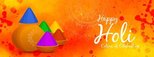 Abstrakte glückliche indische Festivalfahne Holi vektor