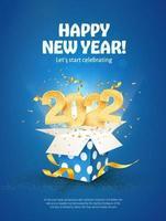 2022 Frohes neues Jahr-Vektor-Illustration. frohe weihnachtsfeier. vektor