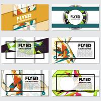 Låg Poly Flyer stil bakgrund Design Mall