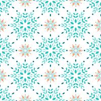 Snöflingor sömlöst mönster vektor
