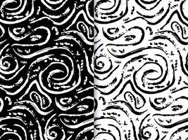 Hand gezeichnetes gemaltes nahtloses Muster.