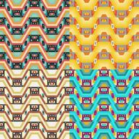 Retro verschiedene nahtlose Muster Kacheln.