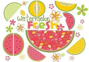 Frischer Wassermelonen-Vektor-Satz vektor