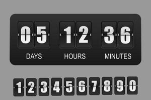 Countdown-Timer. Vektor-Flip-Uhr vektor