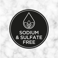 Natrium und Sulfat Kostenloses Symbol für Etiketten für Shampoo, Maske, Conditioner und andere Haarprodukte. vektor