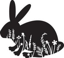 Blumenhase oder Kaninchen vektor