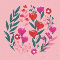 Vektorhand gezeichnete Blumenelemente