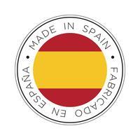 Made in Spain-Kennzeichnungssymbol. vektor