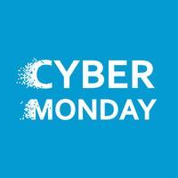 Cyber Monday Banner. Tag des Verkaufs in Online-Shops. Pixel-flache Abbildung vektor