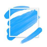 Ram för text. Abstrakt ljusblå bakgrund med imitation oljemålning pensel. Vektor illustration