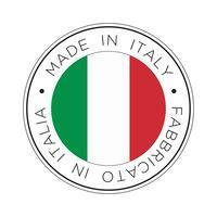 gjord i italiensk flaggikon. vektor