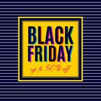Svart fredagsförsäljning affischdesign