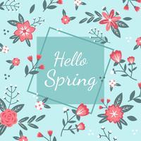 Hallo Frühlings-Hintergrund-Vektor