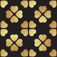 Guld sömlöst mönster med klöverblad, symbolen för St. Patrick Day i Irland
