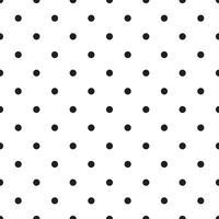 sömlösa mönster med vita och svarta ärter (polka dot). vektor