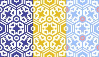 Retro geometrisk sexkantig sömlös mönster