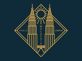 Schöner Kuala Lumpur-Vektor vektor