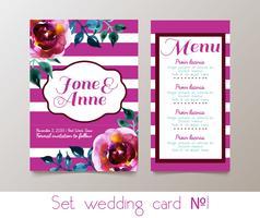 En uppsättning bröllop inbjudan