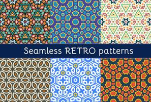 Set von sechs ethnischen nahtlosen Mustern.