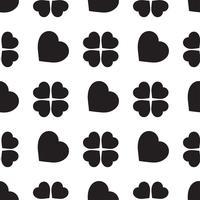 sömlöst mönster med klöverblad, symbolen på St Patrick's Day i Irland