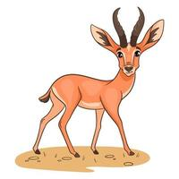 Tierfigur lustige Gazelle im Cartoon-Stil. vektor