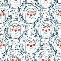 Julmönster med isbjörnar. vektor